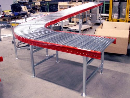 MH Modules AX100 Roller Conveyor Unpowered With Curve