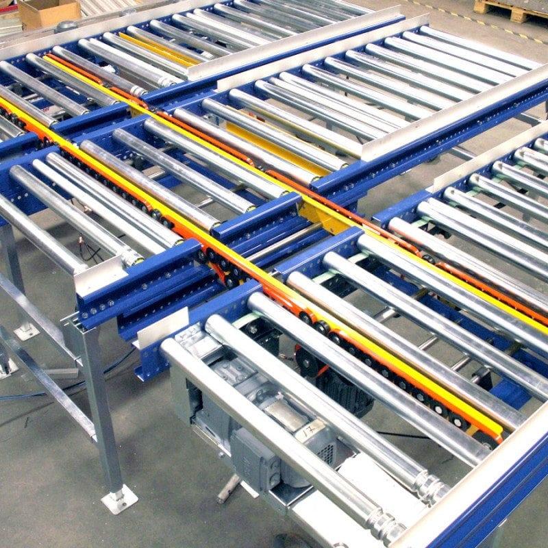 MH Modules FR100 Dubbel vinkelväxel genom 3 rullbanor