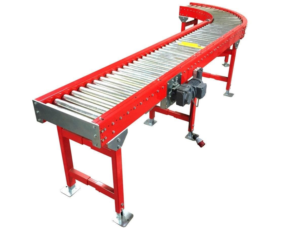 MH Modules KE500 Roller Conveyor With Curve 90Degree