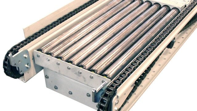 MH Modules KE500 Lifting And Lowering Roller Conveyor For Chain Conveyor