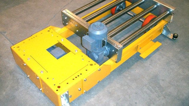 MH Modules KE500 Transfercar Low Profile With Roller Conveyor