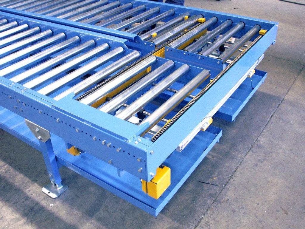 MH Modules KE500 Pneumatisk kedjepusher höj och sänkbar med stopp och fixering av palett