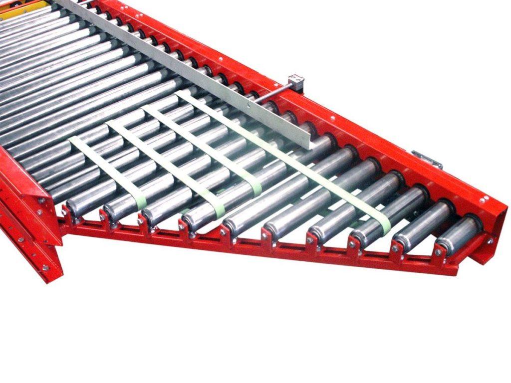 MH Modules KE500 Vinkelanslutning med belt on rollers
