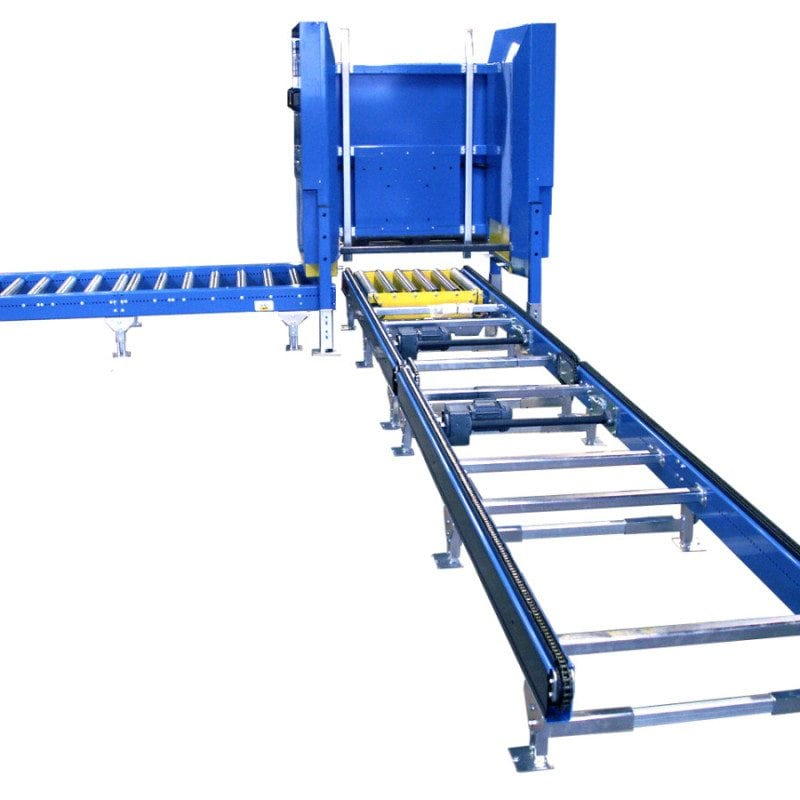 MH Modules PA1500 Rullbana Kedjetransportör Pallmagasin