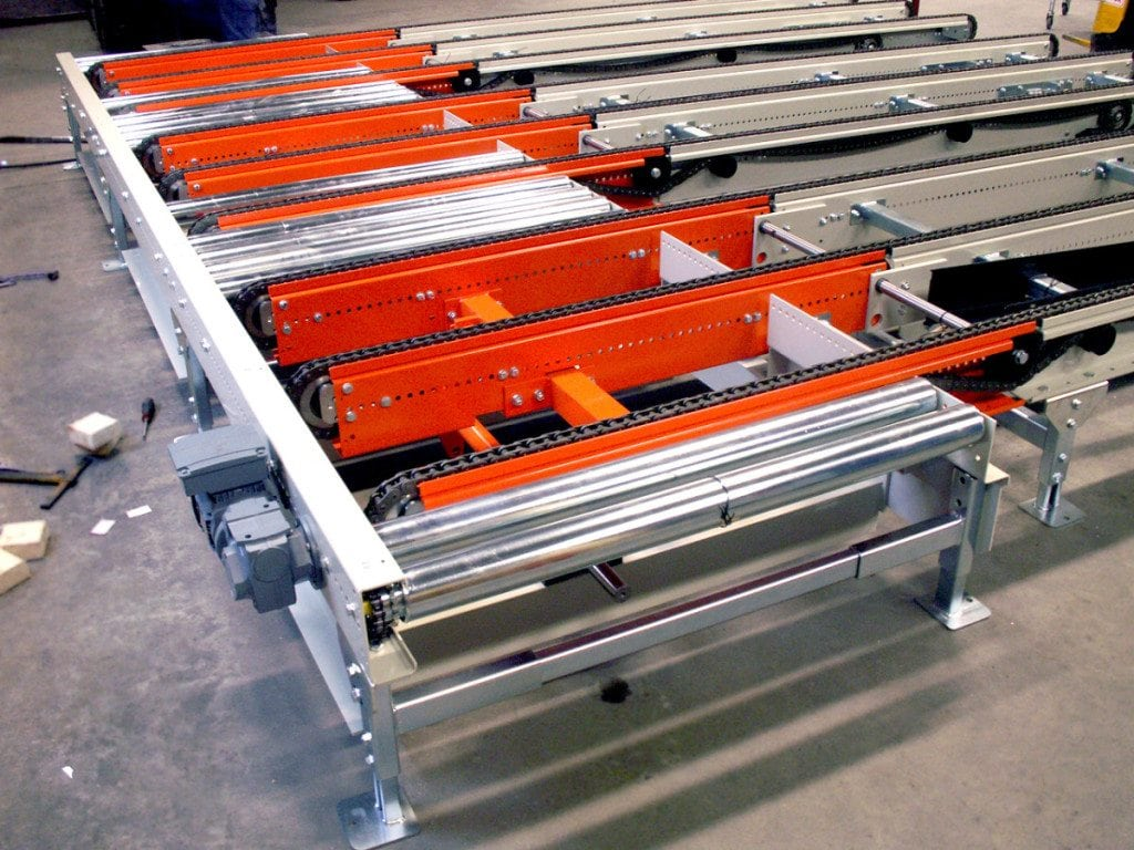MH Modules PA1500 Chain Conveyor With Tiltable End