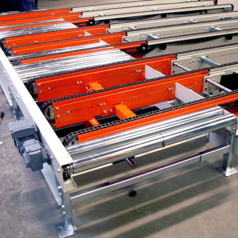 MH Modules PA1500 1tum Kedjetransportörer med gemensamt motordrivna tiltbara ändar