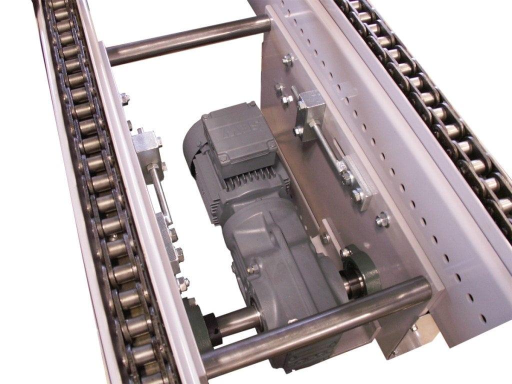 MH Modules PA1500 Drivenhet kedjetransportör 1 tum försänkt fritt 120 mm under kedjor
