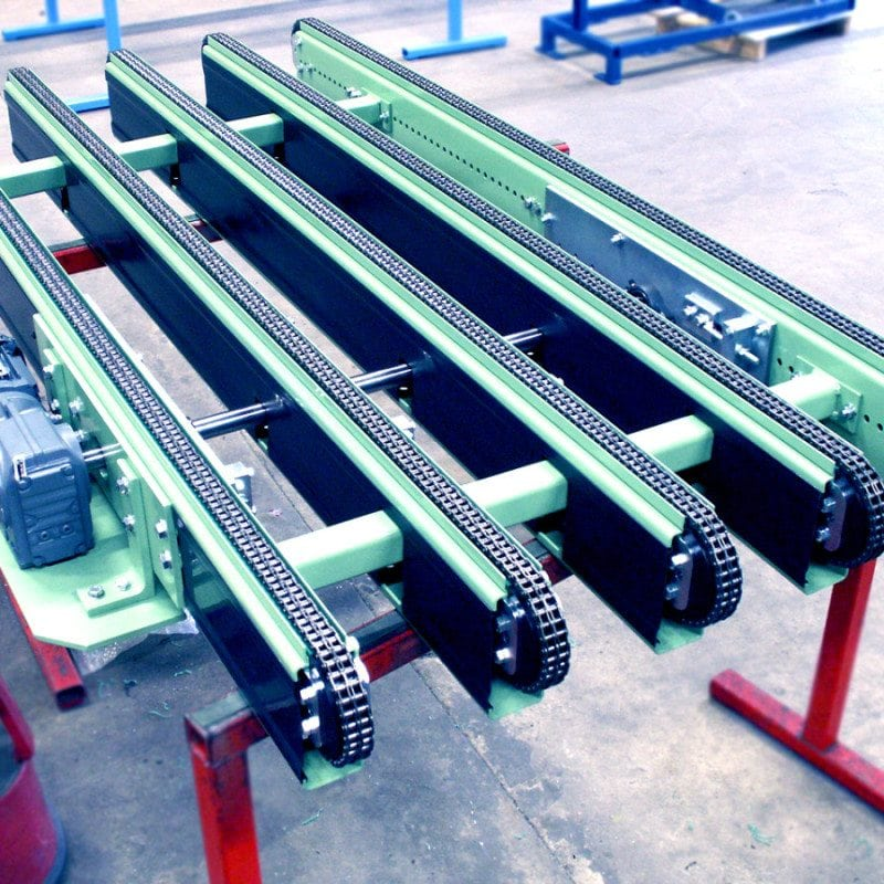MH Modules PA1500 Chain Conveyor 5 Stringed With Side Mounted Drive Unit
