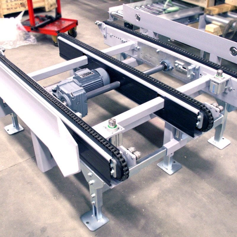 MH Modules PA1500 Chain Conveyor 3 String With Positioning Stop Pneumatic Side Fixation