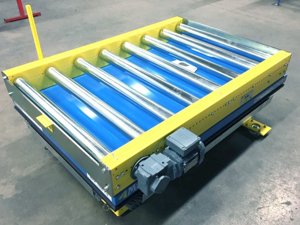 MH Modules PA1500 Manual Pivot Roller Conveyor With Lift Table