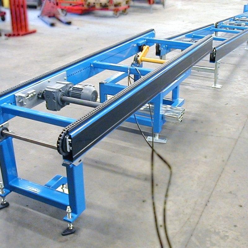 MH Modules PA1500 Tiltbar kedjetransportör övergång lutande horisontell