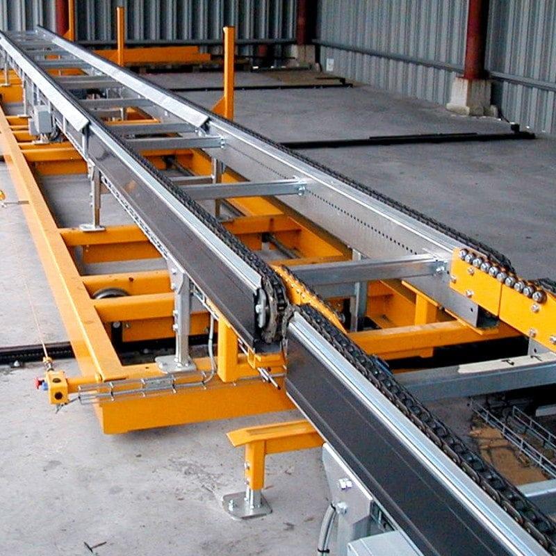 MH Modules PA1500 Transfervagn med lång kedjetransportör 4728