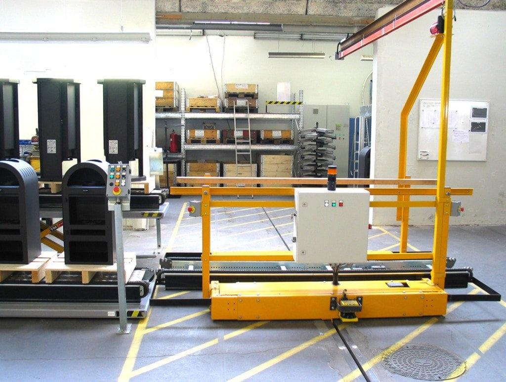 MH Modules PA1500 Transfervagn med spår i golv