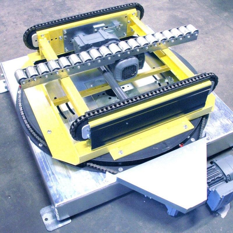 MH Modules PA1500 Vridbar kedjetransportör med rullist som stöd i mitten