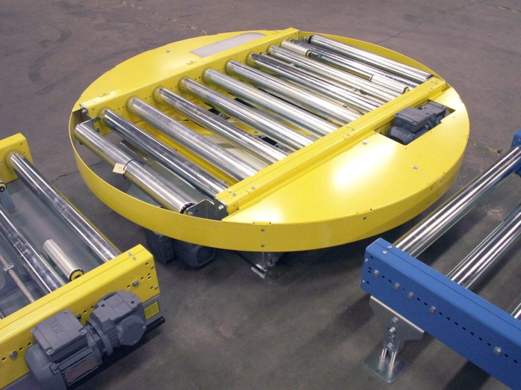 MH Modules PA1500 Turntable Roller Conveyor With Protection Ring