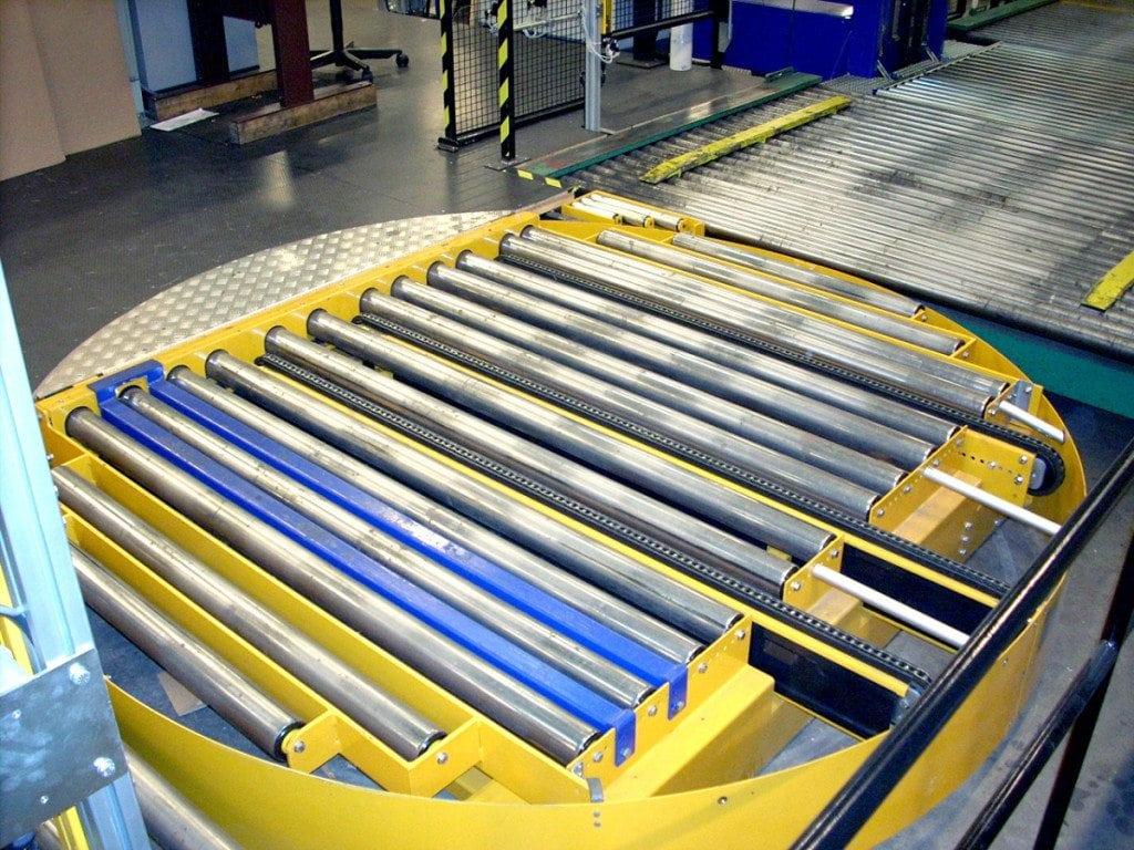 MH Modules PA1500 Turntable Roller Conveyor With Transveyor