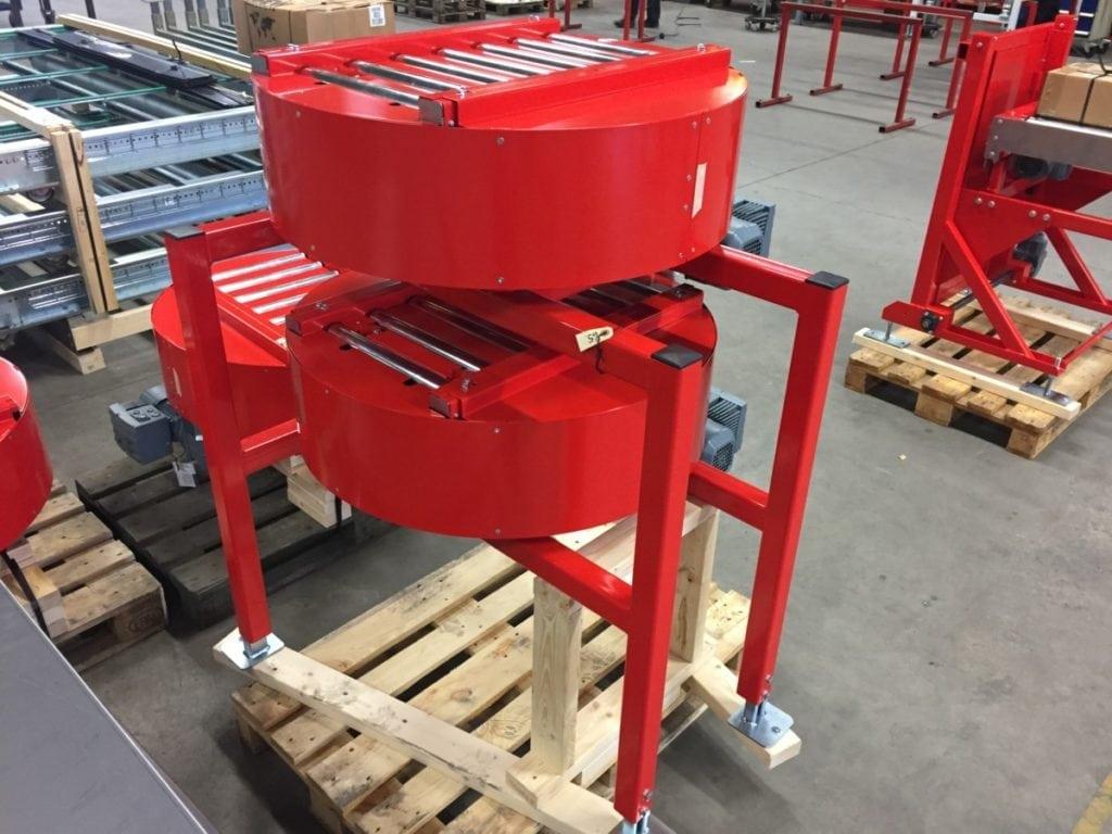 MH Modules KE500 Vridmoduler med 2 st vridbara rullbanor ovanför varandra.