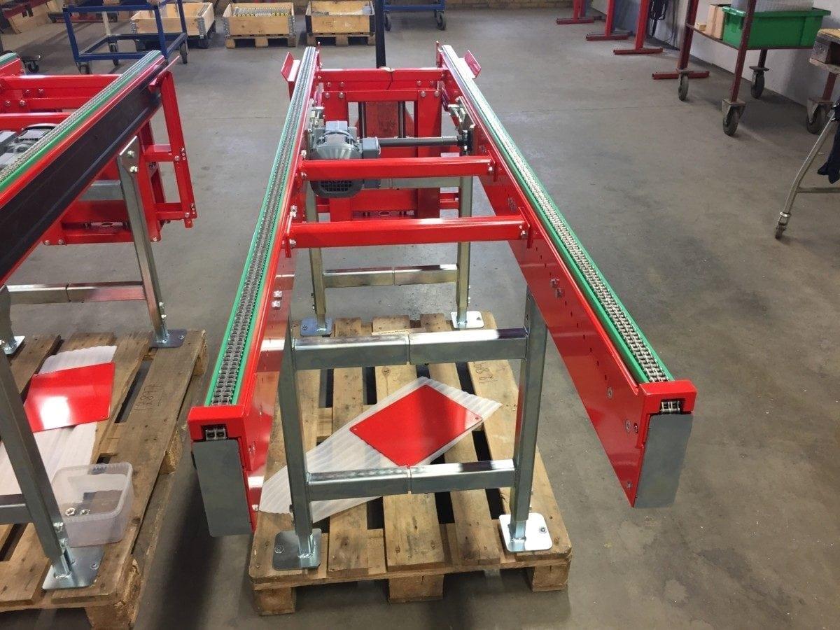Chain conveyors 1/2 inch duplex chain